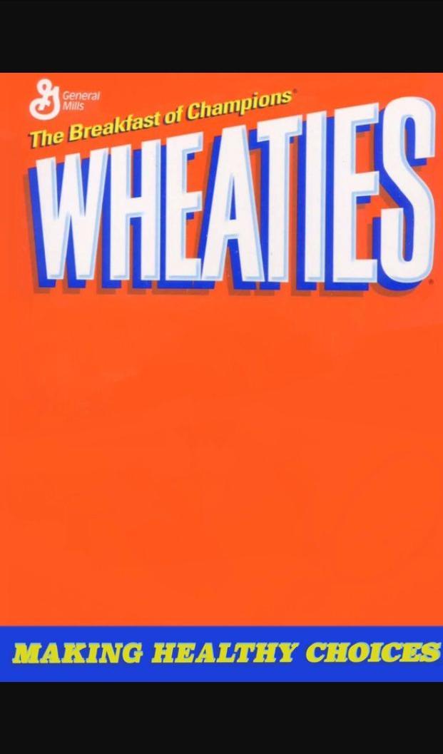 High Quality Wheaties Box Blank Meme Template