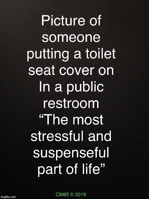 A Stressful Situation  | image tagged in suspenseful situations,stressed out,toilet humor,funny meme,grossed out,public restrooms | made w/ Imgflip meme maker