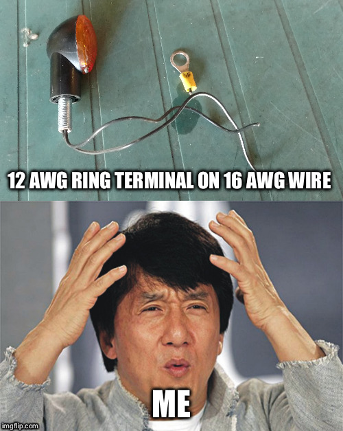 "Sadly typical of the aftermarket ""wiring"" on this motorcycle. 