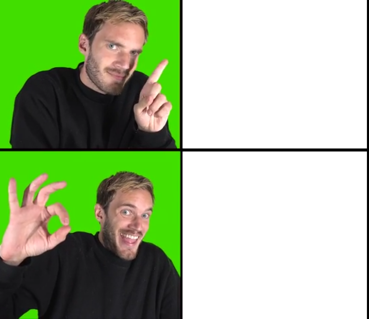 drake meme format empty