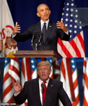 Obama vs Trump | image tagged in donald trump,barack obama | made w/ Imgflip meme maker