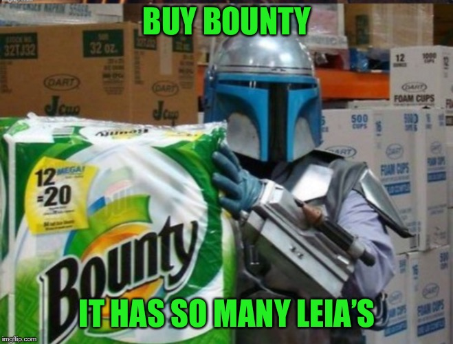 BUY BOUNTY IT HAS SO MANY LEIA'S | made w/ Imgflip meme maker