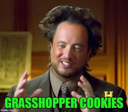 Ancient Aliens Meme | GRASSHOPPER COOKIES | image tagged in memes,ancient aliens | made w/ Imgflip meme maker