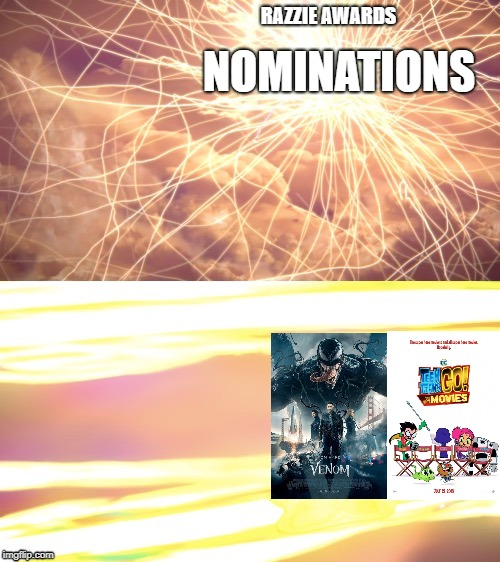 Can we stop pretending that Venom and Teen Titans Go! to the Movies are bad? | RAZZIE AWARDS NOMINATIONS | image tagged in ssbu kirby,venom | made w/ Imgflip meme maker