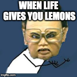 When life gives you lemons | WHEN LIFE GIVES YOU LEMONS | image tagged in when life gives you lemons,when life gives you lemon,when life gives you limon | made w/ Imgflip meme maker