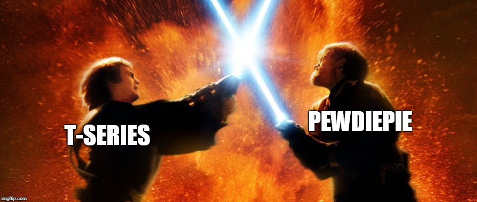 Who will win? |  T-SERIES; PEWDIEPIE | image tagged in t series,pewdiepie,spicy,memes | made w/ Imgflip meme maker