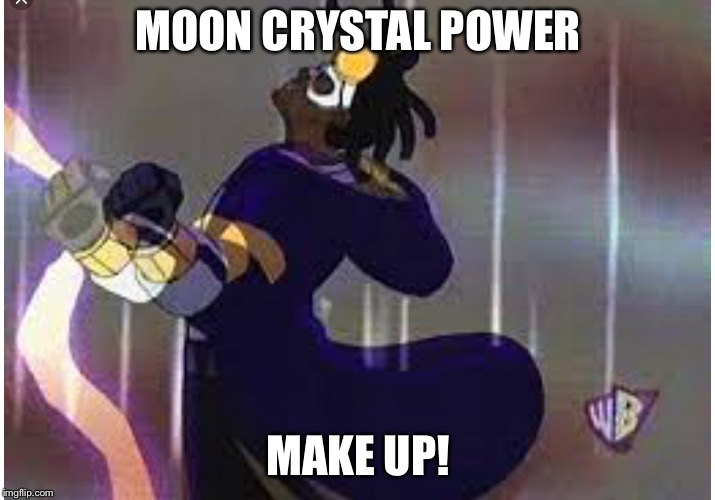 Sailor Shock? Sailor Static? Static Moon? | MOON CRYSTAL POWER MAKE UP! | image tagged in sailor moon,static,dank memes | made w/ Imgflip meme maker