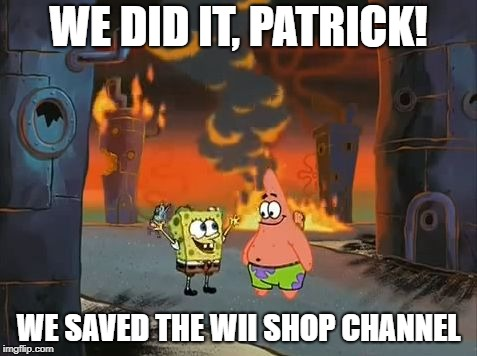 """We did it, Patrick! We saved the City!"" 