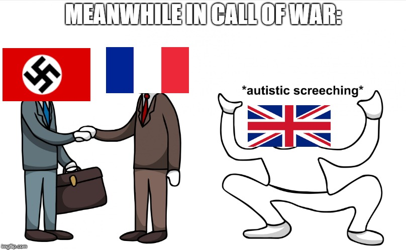 Autistic Screeching | MEANWHILE IN CALL OF WAR: | image tagged in autistic screeching | made w/ Imgflip meme maker