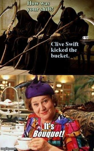 image tagged in rest in peace clive swift and thanks for the giggles,actor,clive swift,keeping up appearances,richard bucket | made w/ Imgflip meme maker