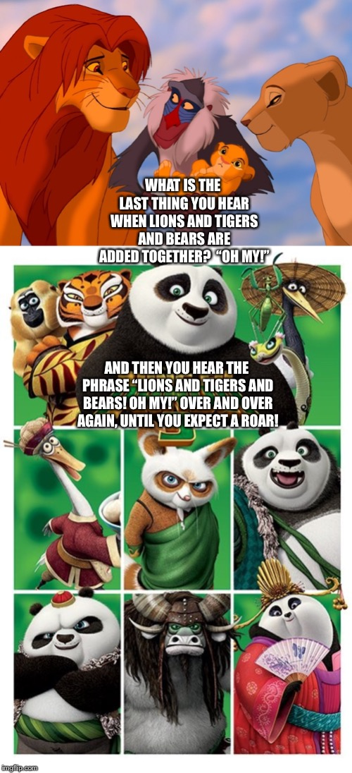 "The Best Characters from ""The Lion King"" and the ""Kung Fu Panda"" Franchise given a reference from ""The Wizard of Oz"" 