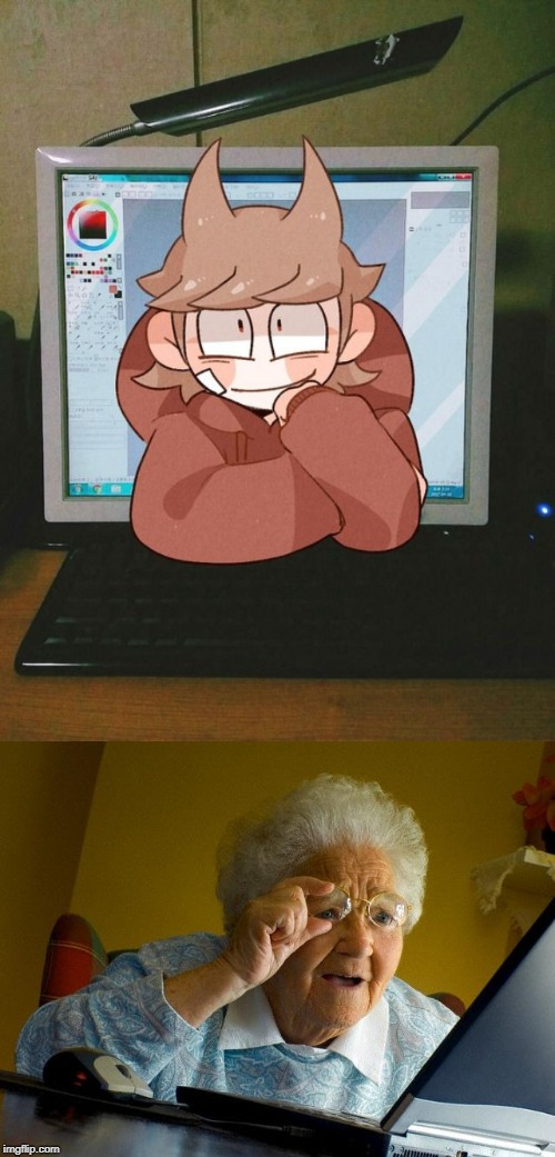 WELP. TORDS REAL...GRANDMAS CONFUSED | image tagged in memes,grandma finds the internet,tord,eddsworld,funny | made w/ Imgflip meme maker