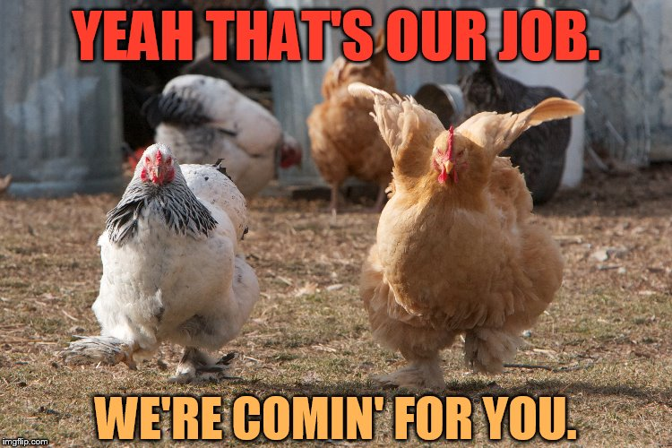 YEAH THAT'S OUR JOB. WE'RE COMIN' FOR YOU. | made w/ Imgflip meme maker