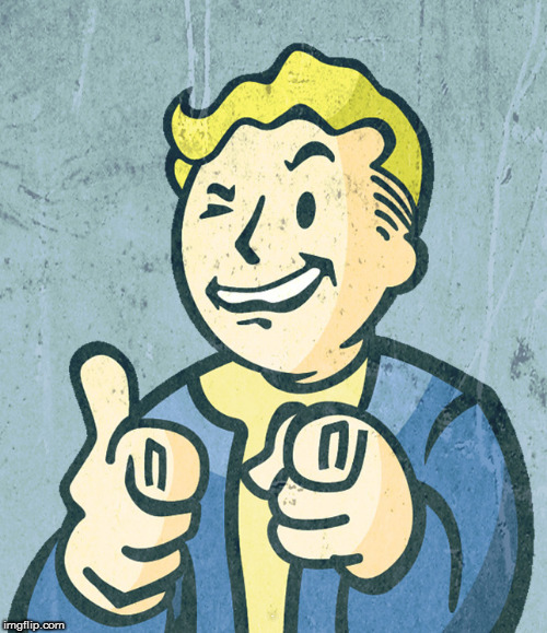 Vault boy point wink | . | image tagged in vault boy point wink | made w/ Imgflip meme maker