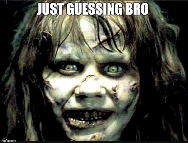 JUST GUESSING BRO | made w/ Imgflip meme maker
