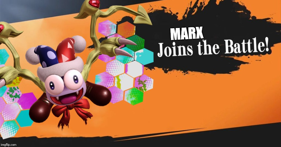 I bet marx is gonna be in the DLC of smash Bros ultimate |  MARX | image tagged in super smash bros splash card,super smash bros,smash bros,marx,kirby,memes | made w/ Imgflip meme maker