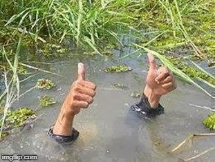 FLOODING THUMBS UP | G | image tagged in flooding thumbs up | made w/ Imgflip meme maker