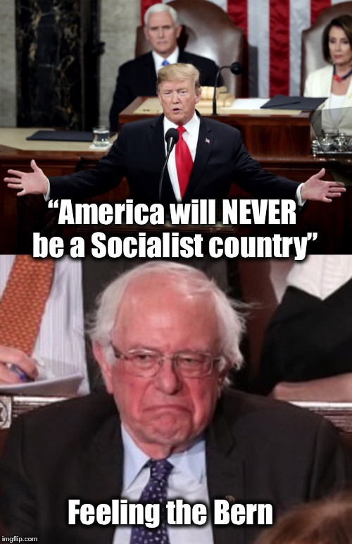 "Feeling the Bern! | ""America will NEVER be a Socialist country"" Feeling the Bern 