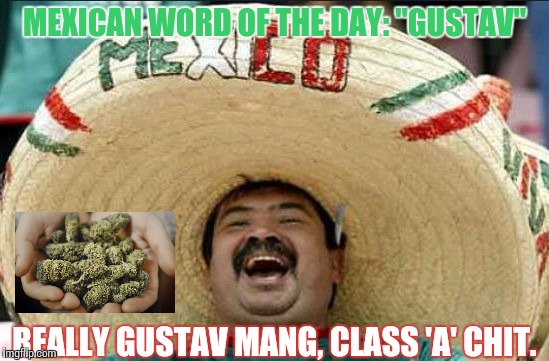 "mexican word of the day | MEXICAN WORD OF THE DAY: ""GUSTAV"" REALLY GUSTAV MANG, CLASS 'A' CHIT. 