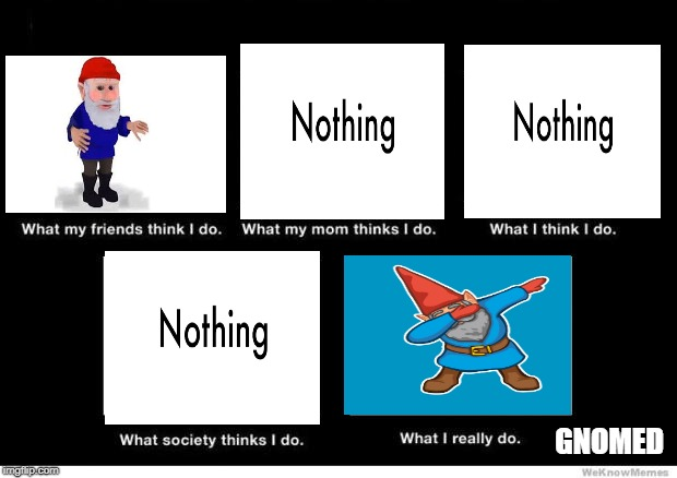 What I really do | GNOMED | image tagged in what i really do | made w/ Imgflip meme maker