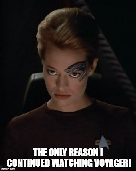 Seven of Nine - I am Borg | THE ONLY REASON I CONTINUED WATCHING VOYAGER! | image tagged in seven of nine - i am borg | made w/ Imgflip meme maker