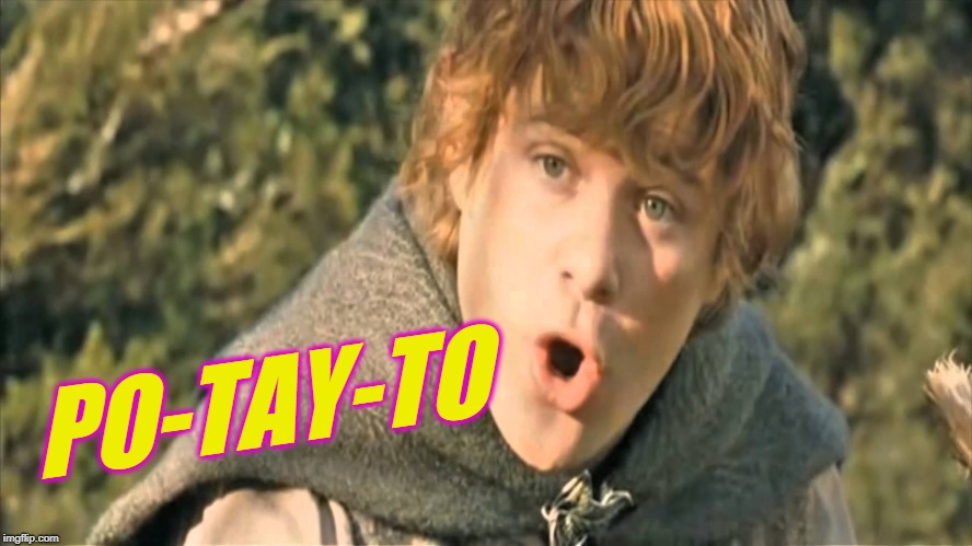 Samwise Gamgee | PO-TAY-TO | image tagged in samwise gamgee | made w/ Imgflip meme maker