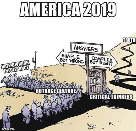 America 2019 | image tagged in intolerance,hate,division,thinking,truth | made w/ Imgflip meme maker