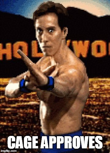 Cage Approves | CAGE APPROVES | image tagged in johnny cage,approves | made w/ Imgflip meme maker