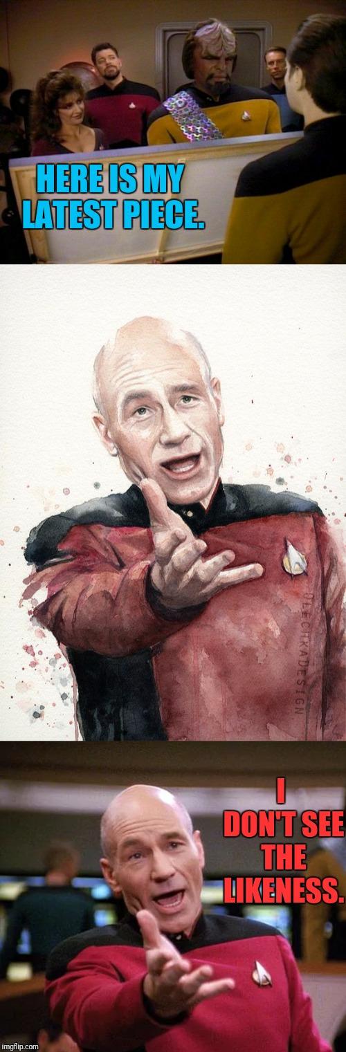 Data Painting Picards Likeness - Imgflip