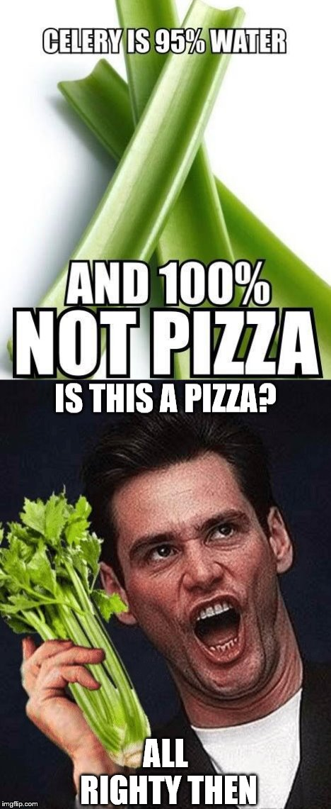 Happy National Pizza day! | ALL RIGHTY THEN | image tagged in jim carrey,pizza | made w/ Imgflip meme maker