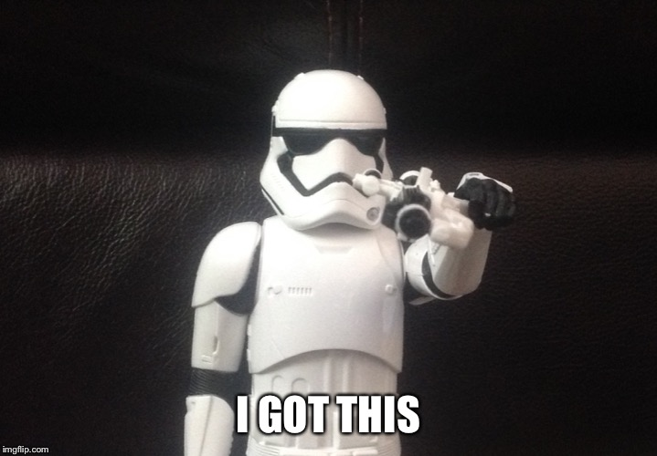 Storm Trooper Takes Aim | I GOT THIS | image tagged in storm trooper takes aim | made w/ Imgflip meme maker