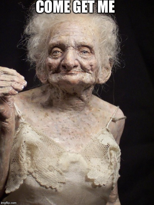 Sexy old woman | COME GET ME | image tagged in sexy old woman | made w/ Imgflip meme maker