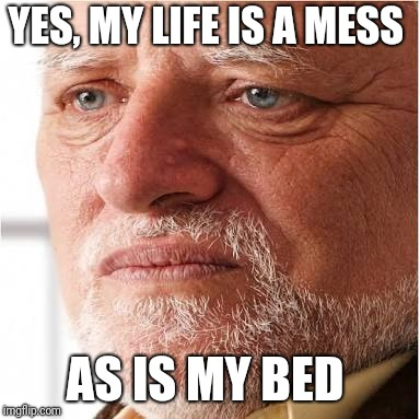 YES, MY LIFE IS A MESS AS IS MY BED | made w/ Imgflip meme maker