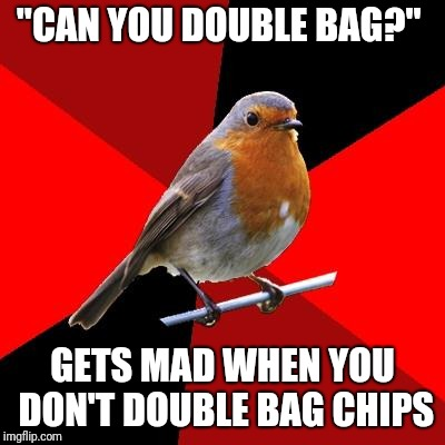"Retail Robin | ""CAN YOU DOUBLE BAG?"" GETS MAD WHEN YOU DON'T DOUBLE BAG CHIPS 