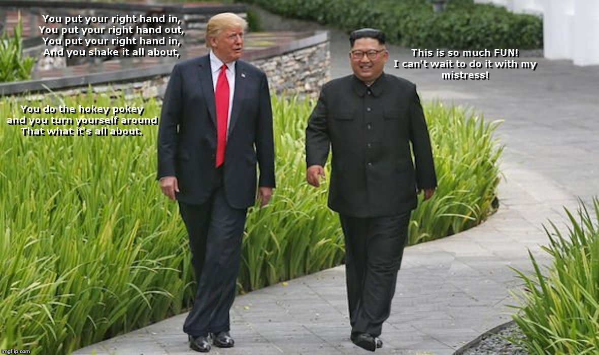 Foreign Diplomacy at Work | image tagged in donald trump,kim jong un | made w/ Imgflip meme maker