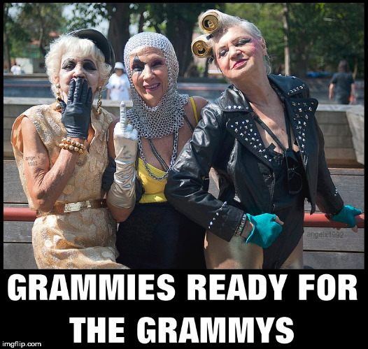 image tagged in grandma,old ladies,grammys,lady gaga,ladies,old woman | made w/ Imgflip meme maker