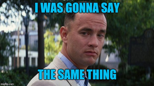 Forrest Gump | I WAS GONNA SAY THE SAME THING | image tagged in forrest gump | made w/ Imgflip meme maker
