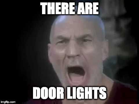 There are door lights