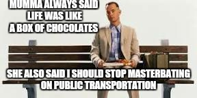 Stupid is what stupid does. | . | image tagged in memes,forrest gump week,funny,chocolate | made w/ Imgflip meme maker