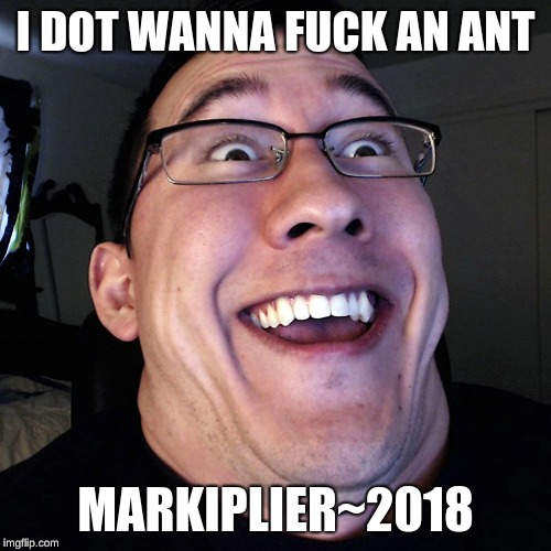I DOT WANNA F**K AN ANT MARKIPLIER~2018 | image tagged in markiplier | made w/ Imgflip meme maker