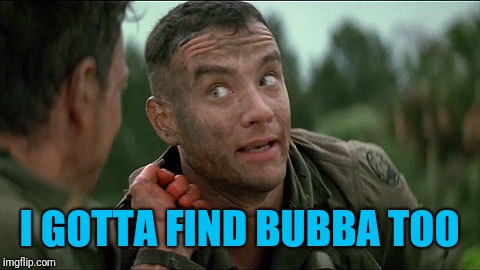 I GOTTA FIND BUBBA TOO | made w/ Imgflip meme maker