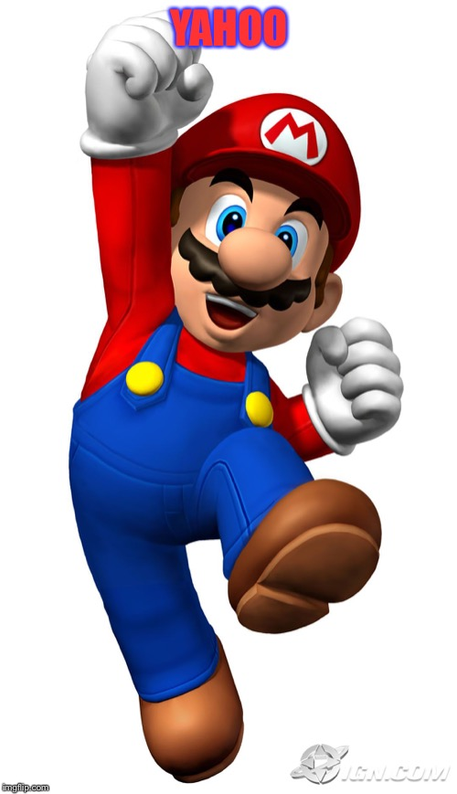 Super Mario | YAHOO | image tagged in super mario | made w/ Imgflip meme maker