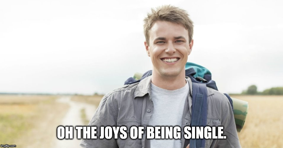 OH THE JOYS OF BEING SINGLE. | made w/ Imgflip meme maker