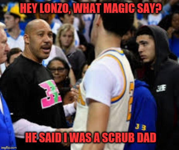 image tagged in lonzo ball,lakers,nba memes,magic johnson | made w/ Imgflip meme maker