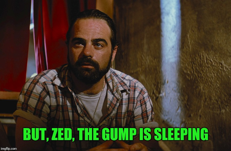 BUT, ZED, THE GUMP IS SLEEPING | made w/ Imgflip meme maker