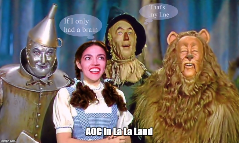 AOC In La La Land | image tagged in aoc in la la land | made w/ Imgflip meme maker
