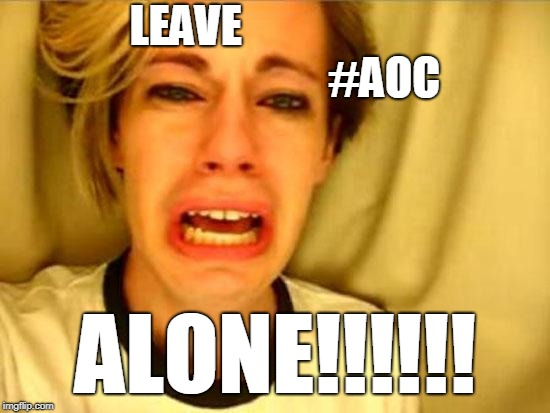 Britney Girl Defends AOC | LEAVE                                             #AOC ALONE!!!!!! | image tagged in leave britney alone,aoc,britney,britney spears | made w/ Imgflip meme maker