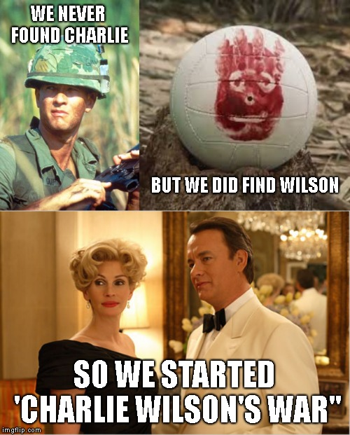 "6 degrees of separation from Tom Hanks *****Forrest Gump Week Feb 10th-16th***** (A CravenMoordik event) | WE NEVER FOUND CHARLIE SO WE STARTED 'CHARLIE WILSON'S WAR"" BUT WE DID FIND WILSON 