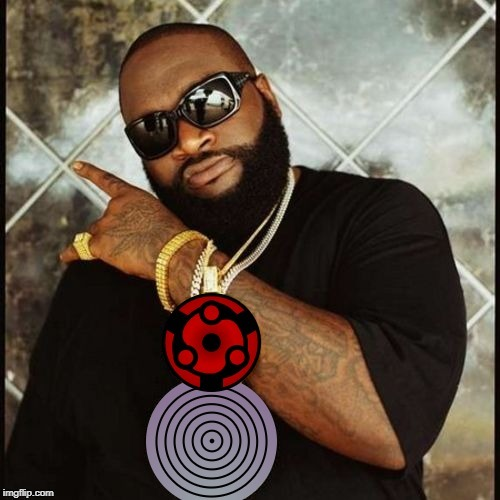 Rick Ross with Naruto Bling | image tagged in rick ross,naruto,naruto shippuden,animeme,anime meme | made w/ Imgflip meme maker