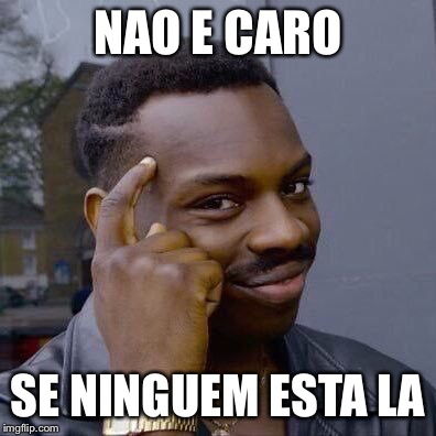 Thinking Black Guy | NAO E CARO SE NINGUEM ESTA LA | made w/ Imgflip meme maker